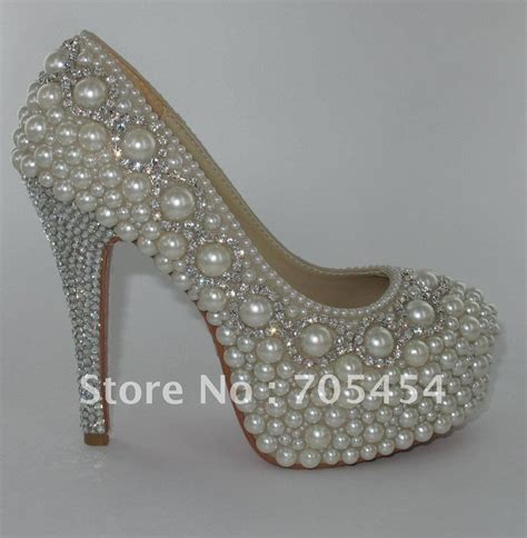 Wedding Shoes With Pearls by Bs362 Free Shipping Custom Make 2012 Crystals With Pearls