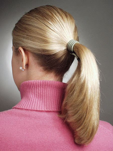 blonde ponytail cut off russian long ponytail hairstyles for young women from