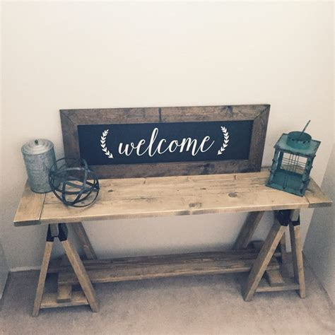 sawhorse console table shanty 2 chic