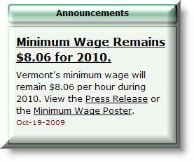 vermont minimum wage searchs in the stowe vermont area resources