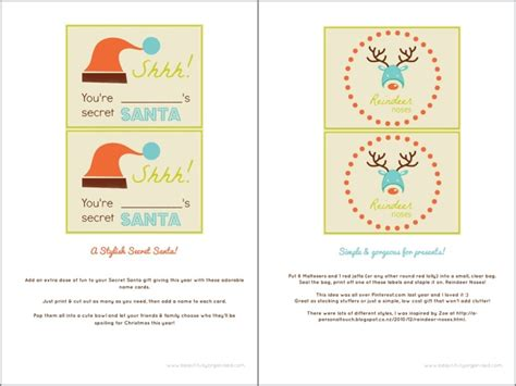 free printable secret santa gift tags new calendar free printable secret santa form new calendar template site