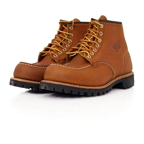 Wing Boots Leather Original wing boot moc lug oro iginal leather light brown