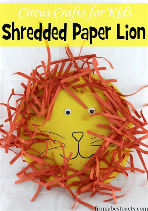 Crafts With Shredded Paper - circus crafts for shredded paper from abcs