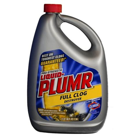 liquid plumr bathtub liquid plumr professional strength drain cleaner