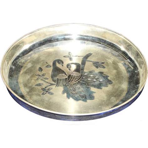Home Decor Accessories Online Store silver store pooja items baby dinner plate 250 grams