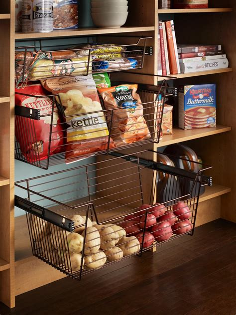 Pantry Wire Baskets by Organization And Design Ideas For Storage In The Kitchen