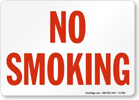 large printable no smoking signs no smoking sign at best prices red on white sku s 2782