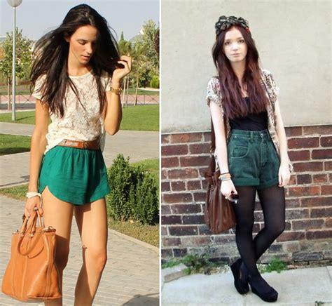 imagenes de shorts verdes looks 4littledots