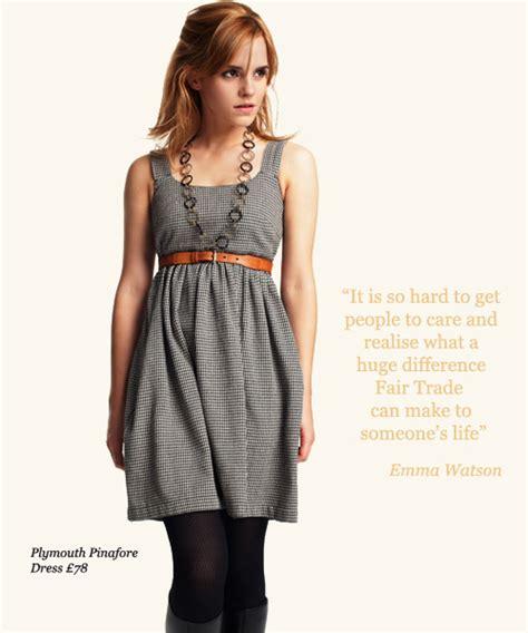 emma watson ethical fashion actress emma watson pic advertisement emma watson newser