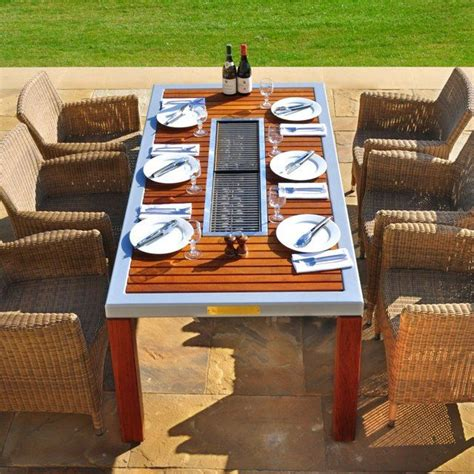 Patio Table With Built In Grill 25 Best Ideas About Bbq Table On Picnic Table With Umbrella Table Top Bbq And Pool
