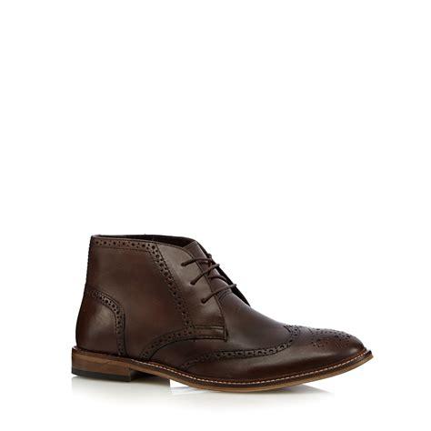 debenhams mens boots herring mens chocolate leather chukka brogue boots