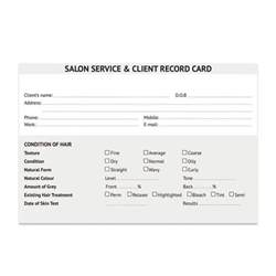 salon client cards hair amr