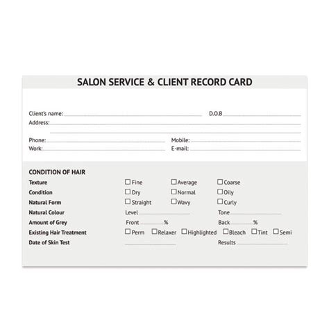hair salon client cards template salon client cards hair amr