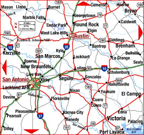 map of san antonio texas and surrounding area road map of san antonio texas aaccessmaps
