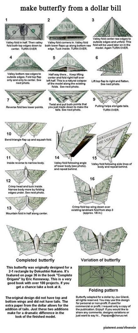 Money Origami Step By Step - dollar bills bill o brien and butterflies on