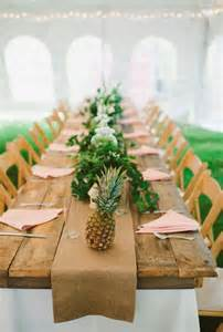 Tropical Themed Wedding Ideas - because im addicted pineapple decor