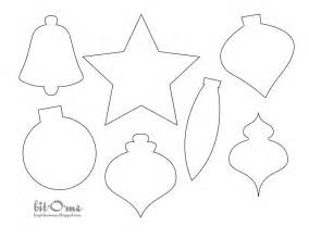 felt christmas tree ornament templates template idea