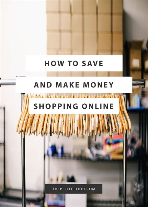 How To Make Money Shopping Online - how to save and make money when shopping online the petite bijou