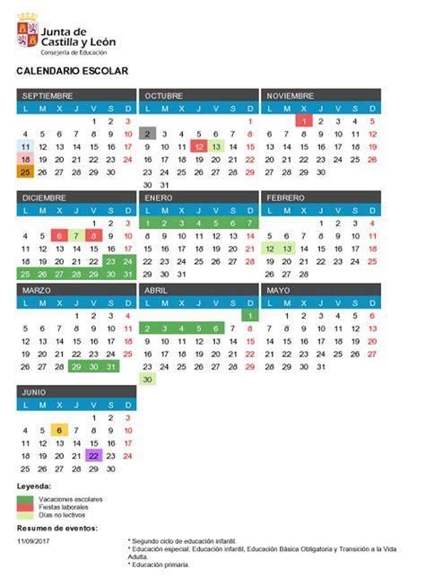 Calendario Escolar 2017 Castilla Y Calendario Escolar Castilla Y Le 243 N 2017 2018 Noticiascyl