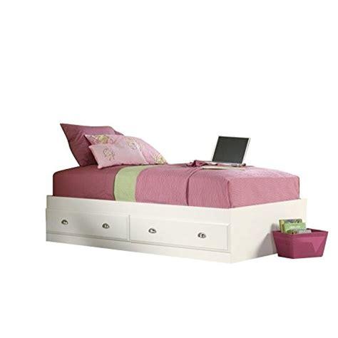sauder shoal creek twin mates bed with headboard jamocha sauder shoal creek mates bed white