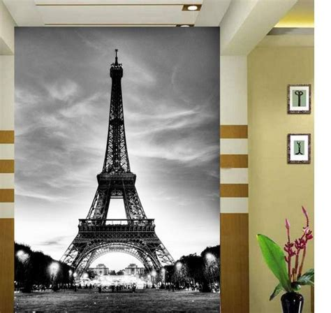 restickable wallpaper paris eiffel tower large 3d personalized mural 3d