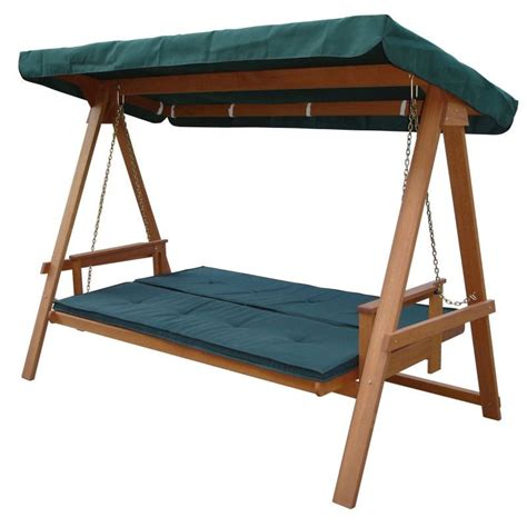 wooden canopy swing wooden outdoor swing bed bench canopy cushion buy