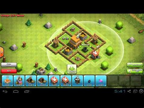 coc layout for th4 coc th4 base design trophy youtube
