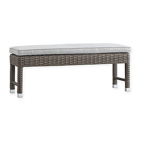 all weather bench verona home brescia all weather wicker bench bed bath beyond