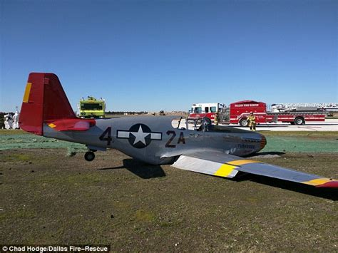 world war ii mustang fighter plane ww2 fighter plane suffers substantial damage after crash