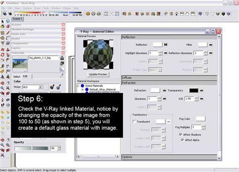 vray sketchup mirror material tutorial glass reflection effect sketchup and v ray sketchup