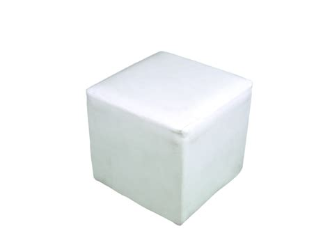 white ottoman furniture rental for events in uae