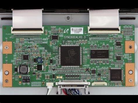 lcd tv repair tutorial t con board common symptoms solutions how to replace t con board