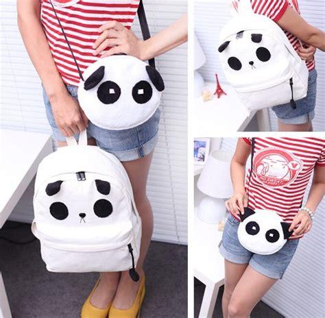 imagenes de mochilas kawaii mochila y bolsa de panda set cute kawaii unisex oso moda