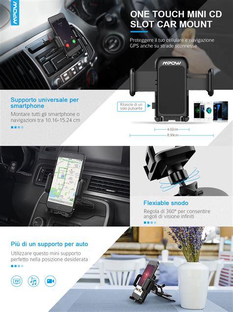 porta cd per auto porta cellulare universale da auto per slot cd rotazione