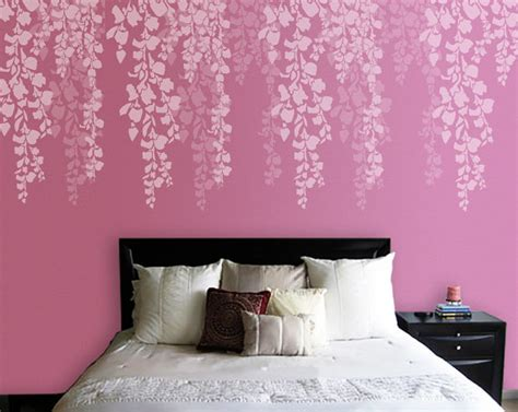 bedroom stencil designs tree stencil bedroom wall stencil cherry blossom stencil