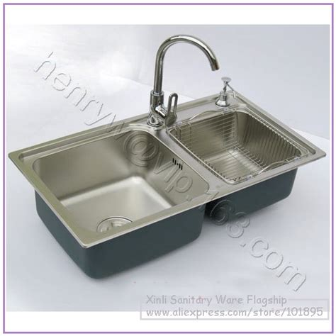 Kitchen Sink Store Aliexpress Buy Retail Luxury Sus304 Stainless Steel Kitchen Sink With Faucet Bowel