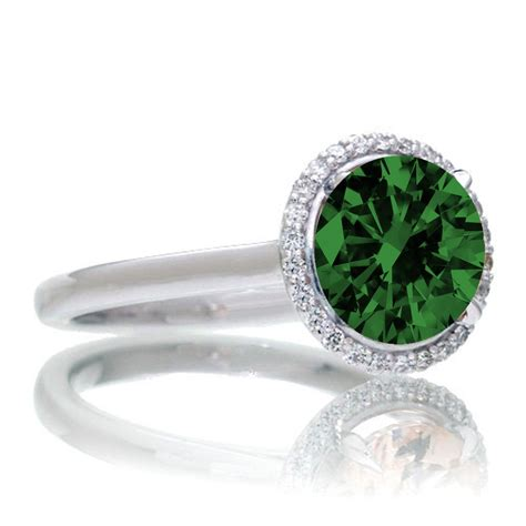 1 25 carat cut classic halo emerald and