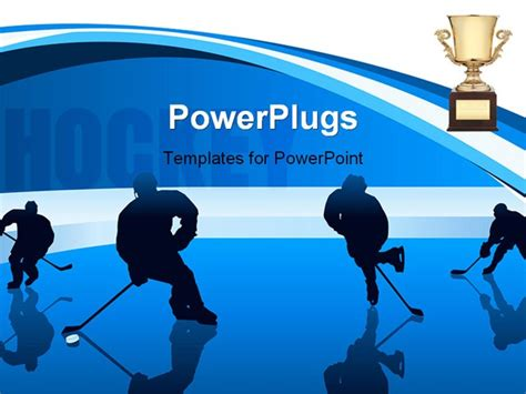 powerpoint templates free download hockey hockey players with reflection vector background for