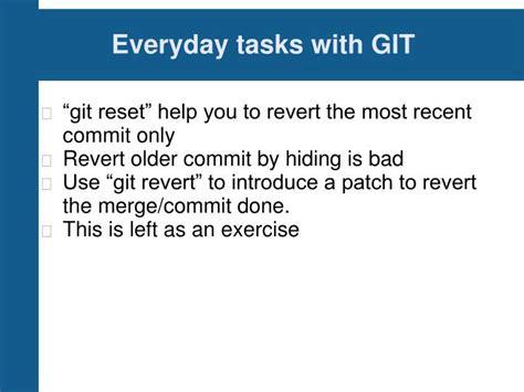 git tutorial revert commit ppt git tutorial powerpoint presentation id 1229138