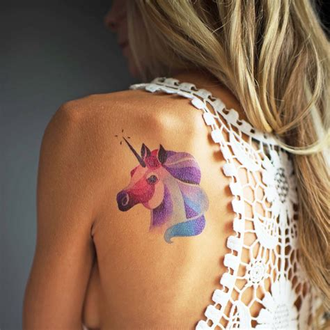 atomic tattoo ta you temporary unicorn watercolour