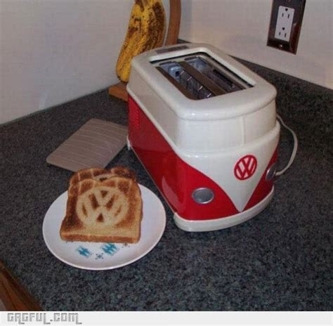 Vw Toaster vw toaster and toast for your next hippie inspired breakfast bit rebels