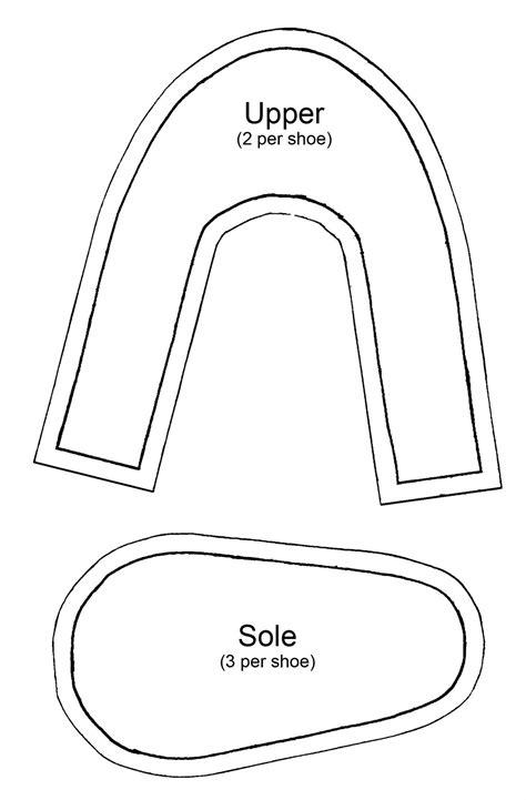 slipper template princess slipper tutorial stitch and pink
