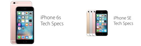 the differences between the iphone 6s and the new iphone se
