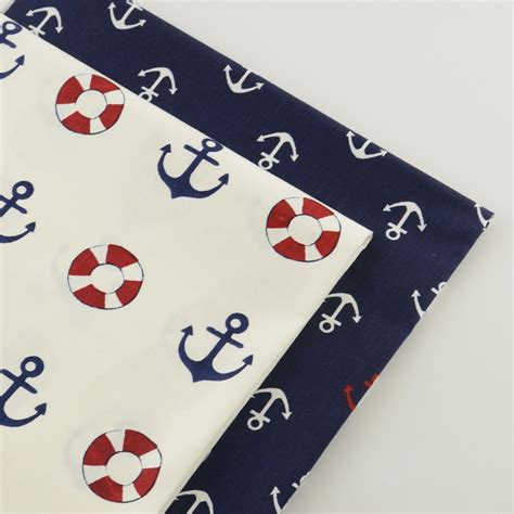 Cheap Patchwork Fabric - 2 pieces anchor series 40cmx50cm cotton fabric sewing