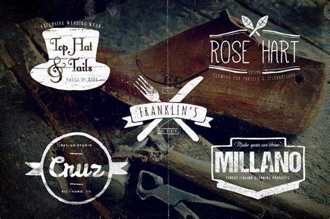 9 hand drawn vintage logos logo templates on creative market