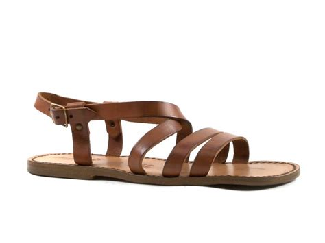 mens leather sandals made in italy handmade in italy mens real leather strapped flat