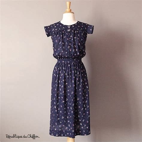pattern dress chiffon sewing pattern r 233 publique du chiffon dress brigitte