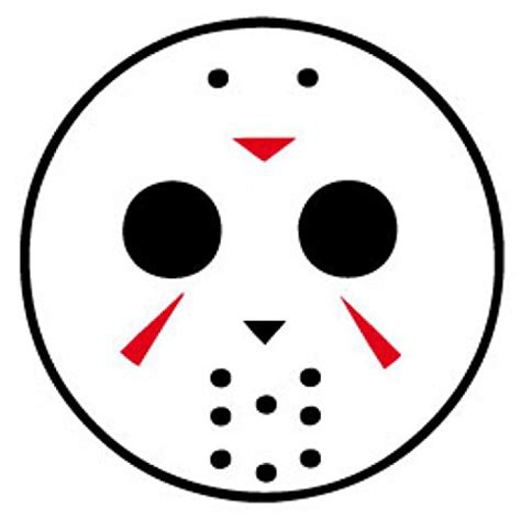jason mask template jason voorhees hockey mask coloring pages