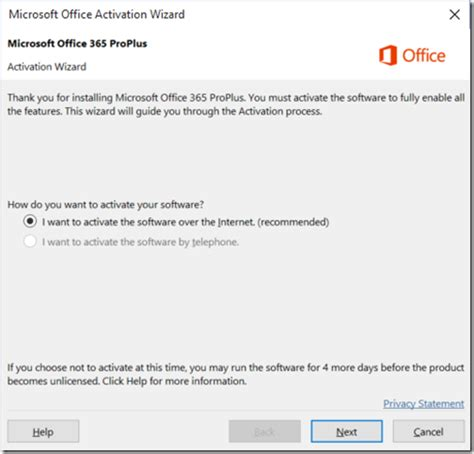 Office 365 Activation Fixing Office 365 Proplus Activation Prompts On Windows 10