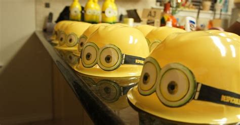 How To Make A Minion Out Of Construction Paper - minion hats purchased construction hats from